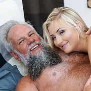Blonde Coed Getting Old Cock