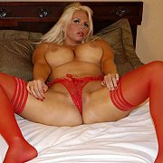 Red Stockings And Panties