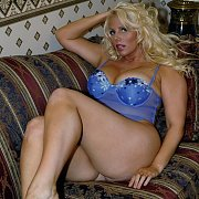 Blue Lingerie On The Couch