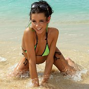 Bikini Girls Frolicking In The Water