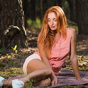 Redhead Beauty Gets Naked Outdoors