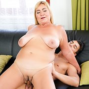 Mature Blonde Gets Younger Dick