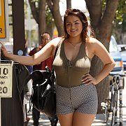 Curvy Mexican In Public