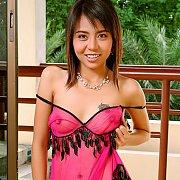 Lusty Asian in lingerie