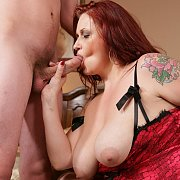 Redhead Plumper Staci Stacked