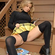 Jannah Teasing In Plaid Skirt