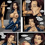 Lusty Bathtub Sexy With Pretty 3D Brunette