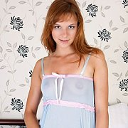 Cute Redhead Girl Gets Naked