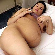 Pregnant Latina Masturbating