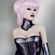 Rendered Latex Babe With Light Pink Hair