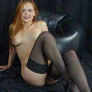 Amateur girl in stockings