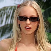Swim Suit Blonde College Girl