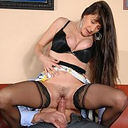 Sex Crazed Mature Banged In Stockings