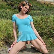 Tight TGirl on the Beach