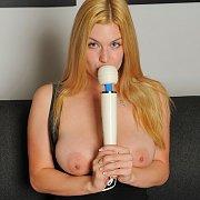 Busty Blonde Danielle Masturbates