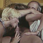 Cock Sucking Blonde From Retro Porn Film
