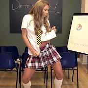 Sexy Fantasy Schoolgirl Striptease