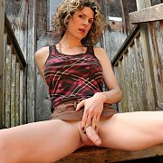 Sweet Pantyhose Classic Woman In A Mirror