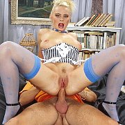 Blonde anal sex girl