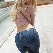 Blonde Teen Teaser At Mall
