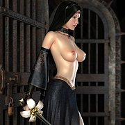 Dark Haired Chesty 3D Babe With Her Sword