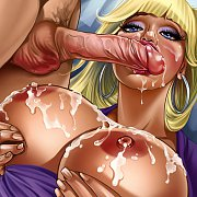 Long Raven Hair On Naughty 3D Babe