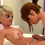 Hot 3D Blonde Being Seduced By Two Monsters