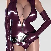 Purple Latex On A Purple Haired 3D Model