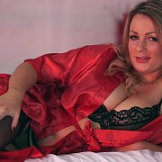 Story Telling In Lingerie And Stockings