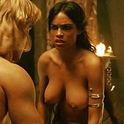 25 Year Old Rosario Dawson Showing Nice Boobs