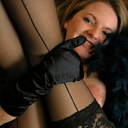 Lace Stocking On Mature Lady