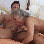 Grey Haired Mature Banged In Stockings