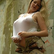 Mature Lady Strips Off Camo Pants