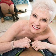 Silver Haired Mature Gets Younger Dick