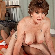 Mature Lady Bangs Yoga Instructor