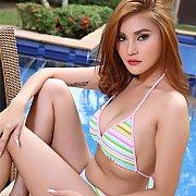 Asian Strips Bikini And Toys