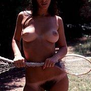 Classic Nude Badminton Girl