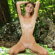 Slim Tan Lines Brunette Teen