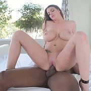 Big Tits Brunette Taking Black Penis