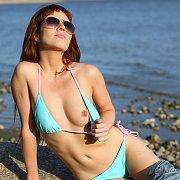Bikini Strip At The Lake