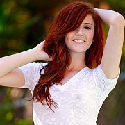Cute Redhaired College Girl In White Shorts
