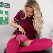 Nurse Flashing Her Knickers