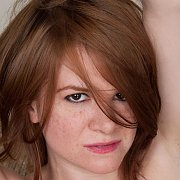 Reddish Hair Woman With Freckle Face