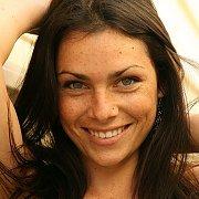 Brunette Model With Freckled Face