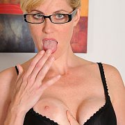 Blonde Milf With Freckle Face Flashing A Breast