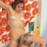 Hairy Pussy Lesbian Munching