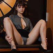 Brunette Teen Model Reveals Herself