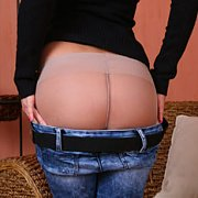 Nylons Under Jeans