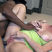 Freckled Mature Slut Anal Interracial