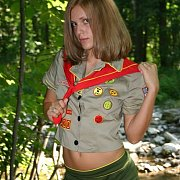 Scout Teasing Teen In Nature